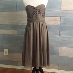 {H&M} Grey Strapless Sweetheart Dress